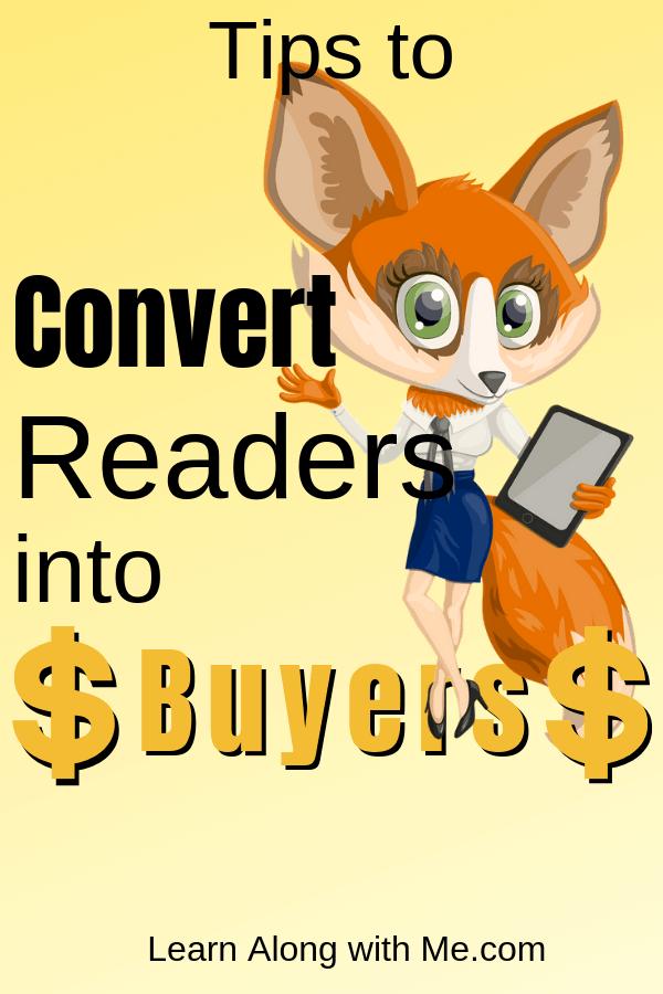 Convert Readers into Buyers