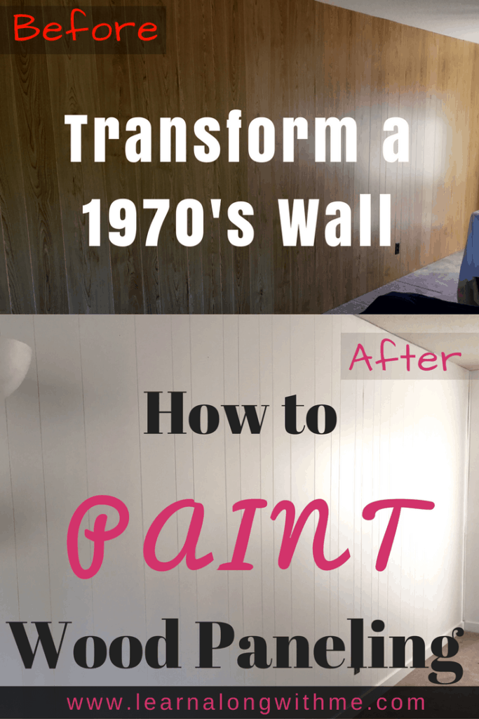 How to paint wood paneling (painting 70's wood paneling)