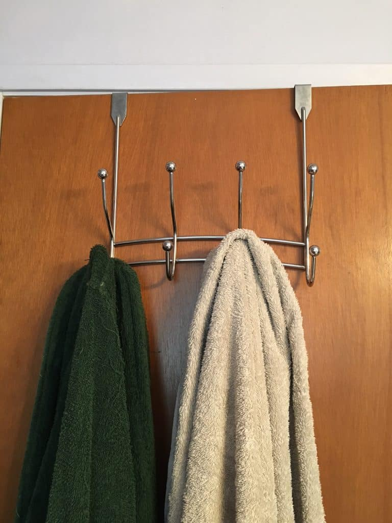 Over the door towel holder
