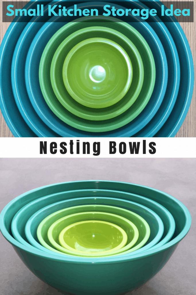 Small Kitchen and RV Kitchen storage Idea : Nesting Bowls