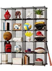Wire shelving unit cubes. RV Storage and RV Organization Ideas