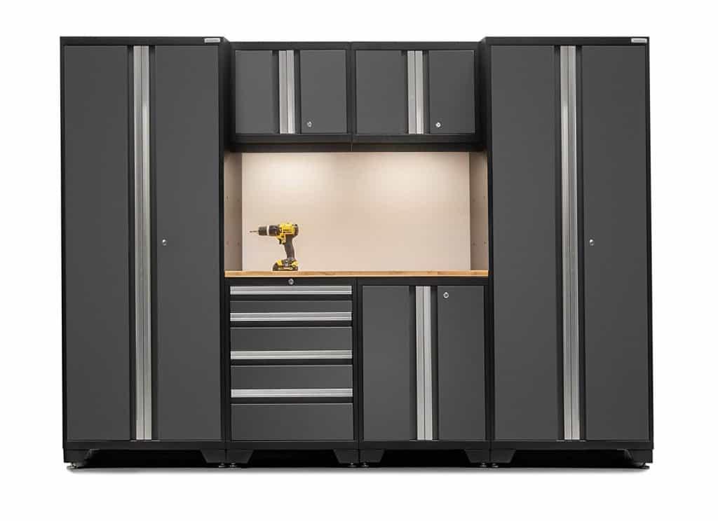 Garage cabinets make a great garage organization idea