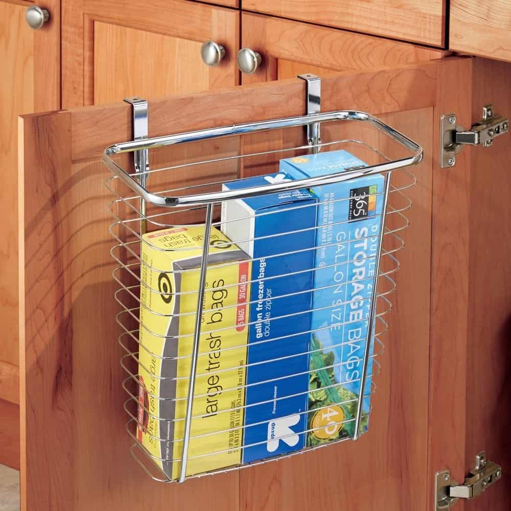 RV Storage - Storage Basket Inside Cupboard Door. RV Organization