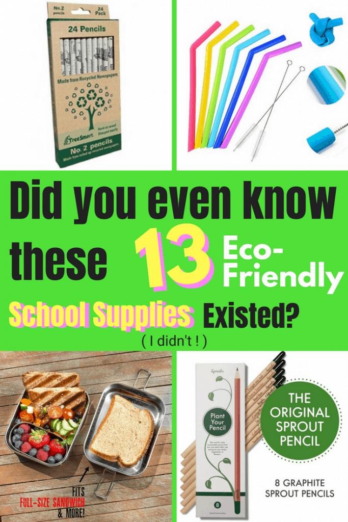 13 Eco-Friendly School Supplies