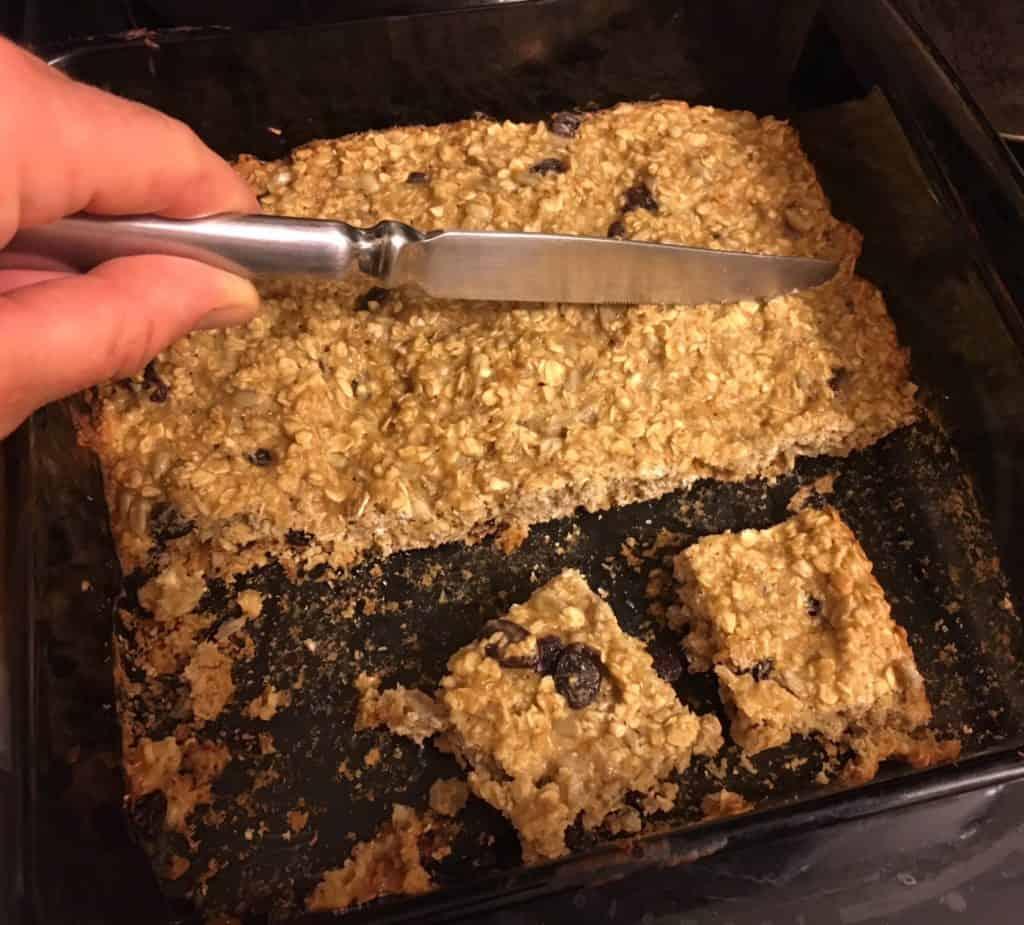 Homemade Granola Bars reduce garbage waste