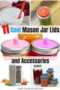 Mason Jar Lids and Mason Jar Accessories