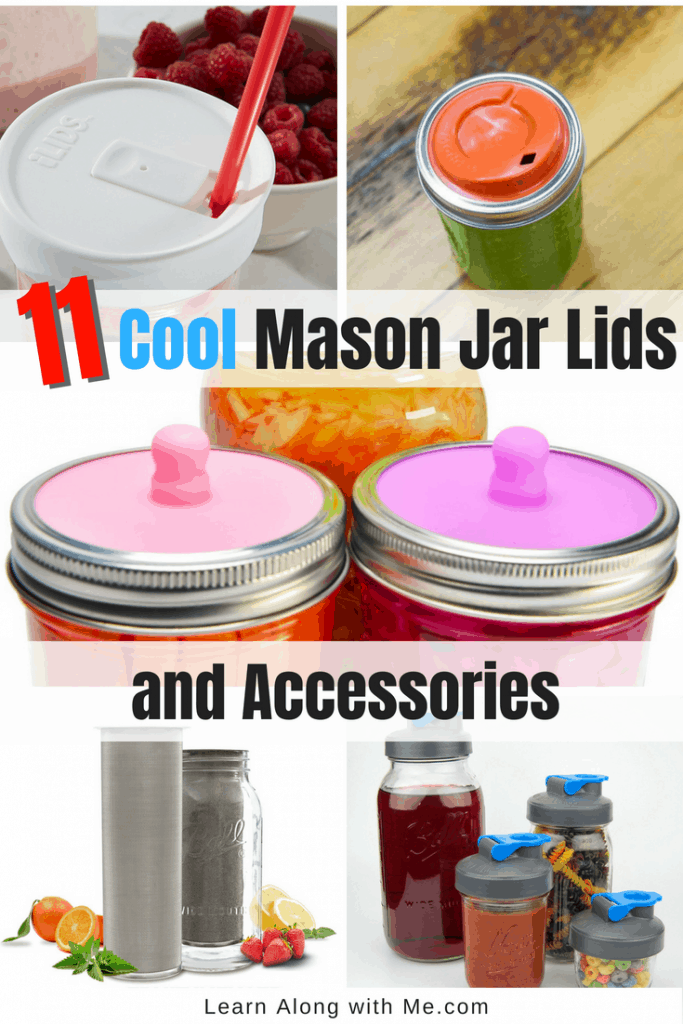 Mason Jar Lids and Mason Jar Accessories. You'll be surprised at how many cool mason jar accessories there are now. Such as fermentation lids and silicone wraps.