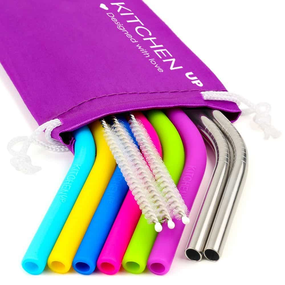 Reusable Washable Silicone Straws. A great zero waste kids birthday party idea