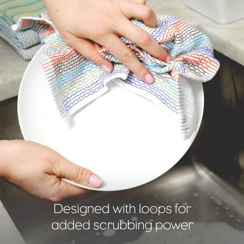 Reusable, washable dish rags made from organic cotton
