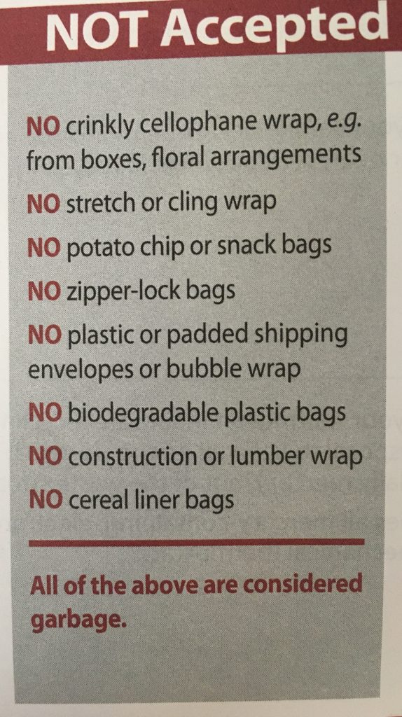 Recycling Items Not Accepted at my Local Depot