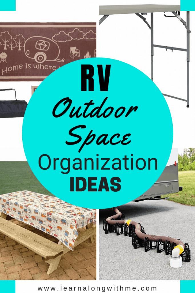 RV outdoor space organization ideas