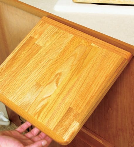 RV folding countertop extender.  This extension is made by Camco