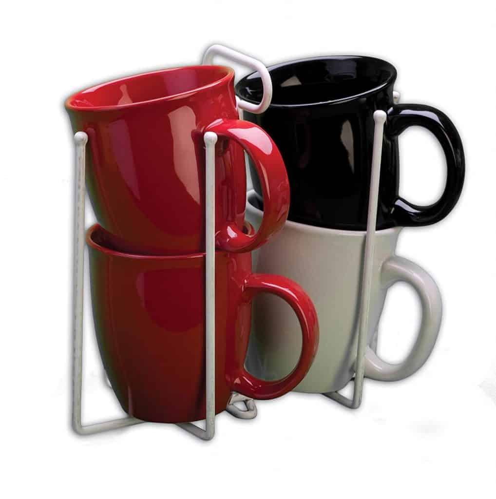 RV Coffee Cup Stacker Organizer is a good way to store dishes and cups in your RV.