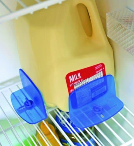 RV Fridge Brace prevents shifting of food items