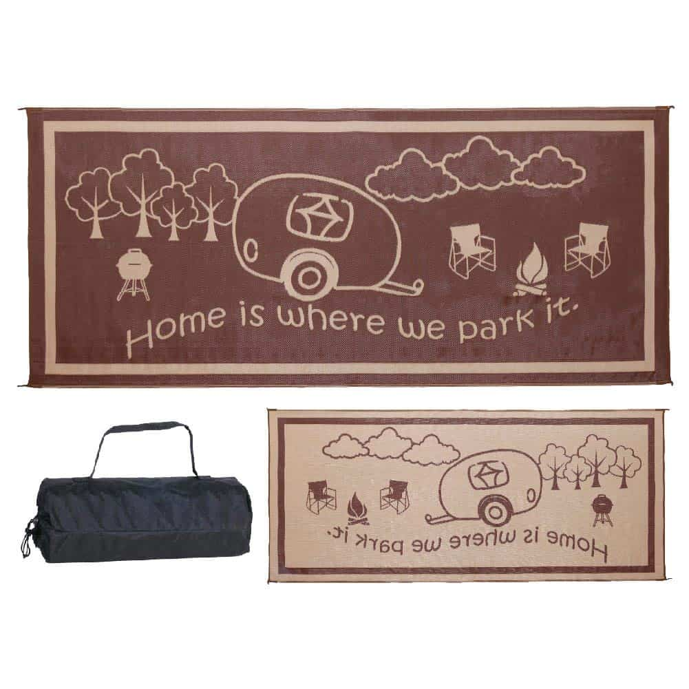 RV Outdoor Rug Home is where we park it