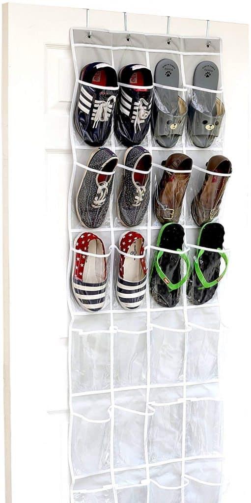 RV Closet Organization - Hanging Shoe Organizer
