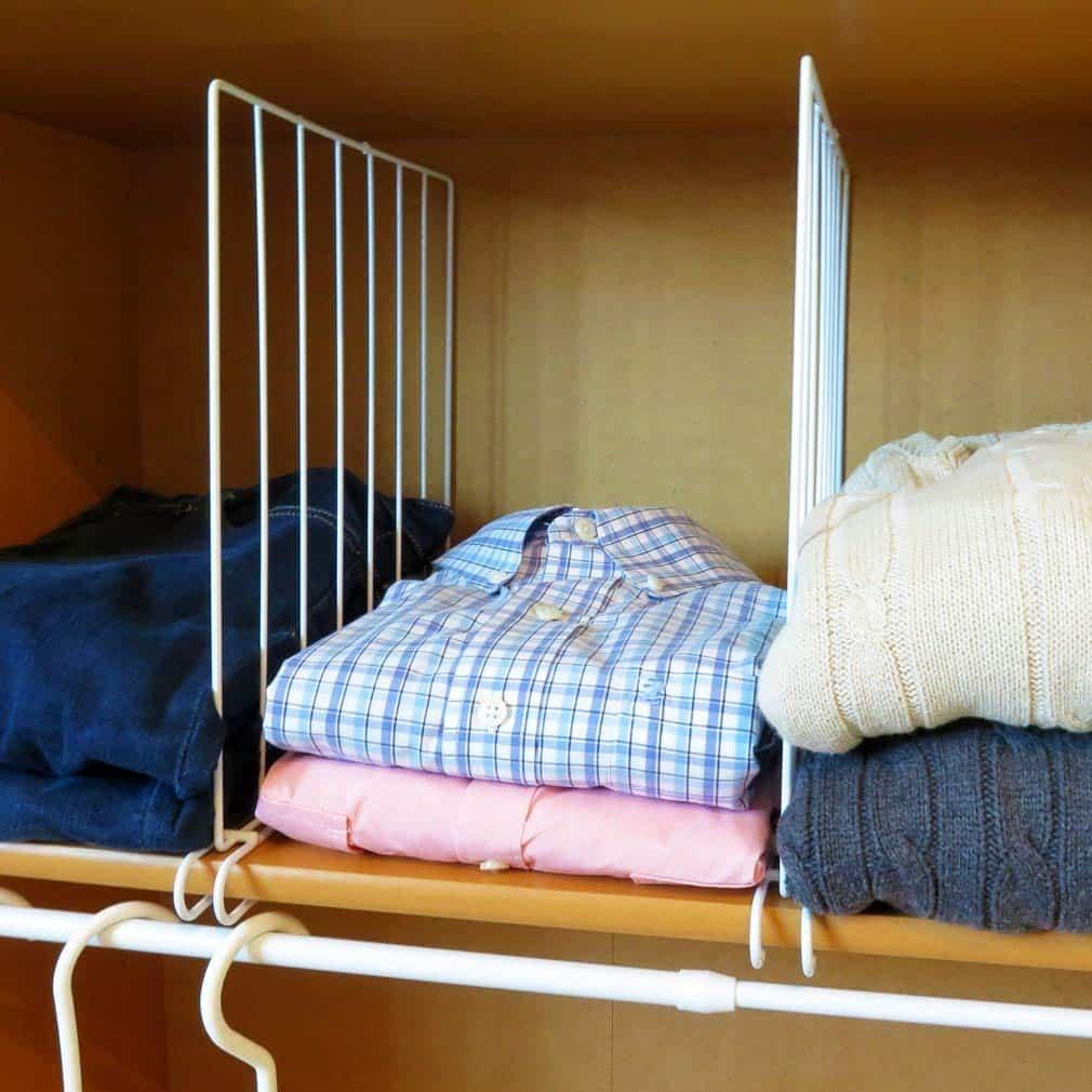 Closet Shelf Divider and organization aid