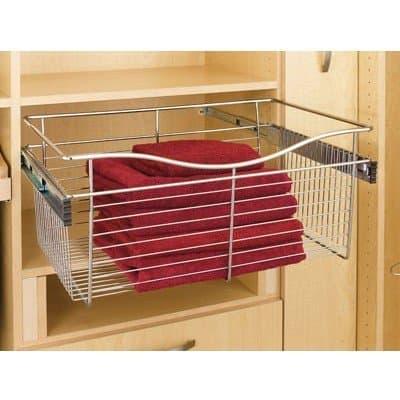 Closet slide out drawer