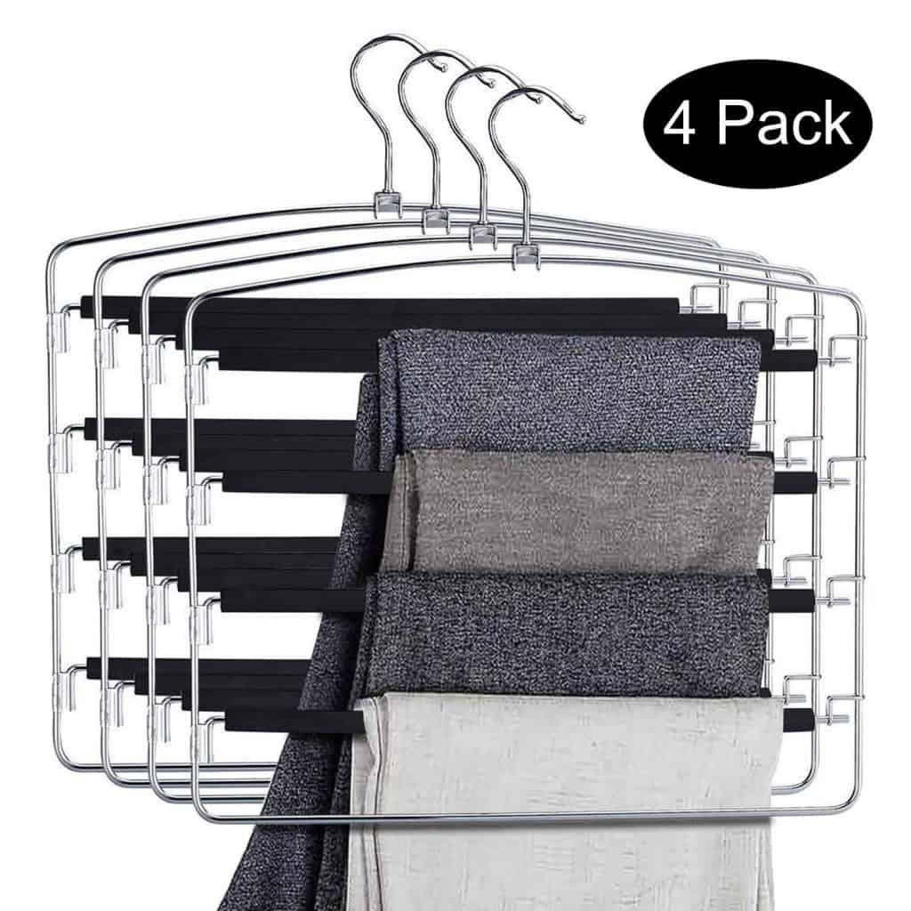 Closet organizer - hanging pants organizer