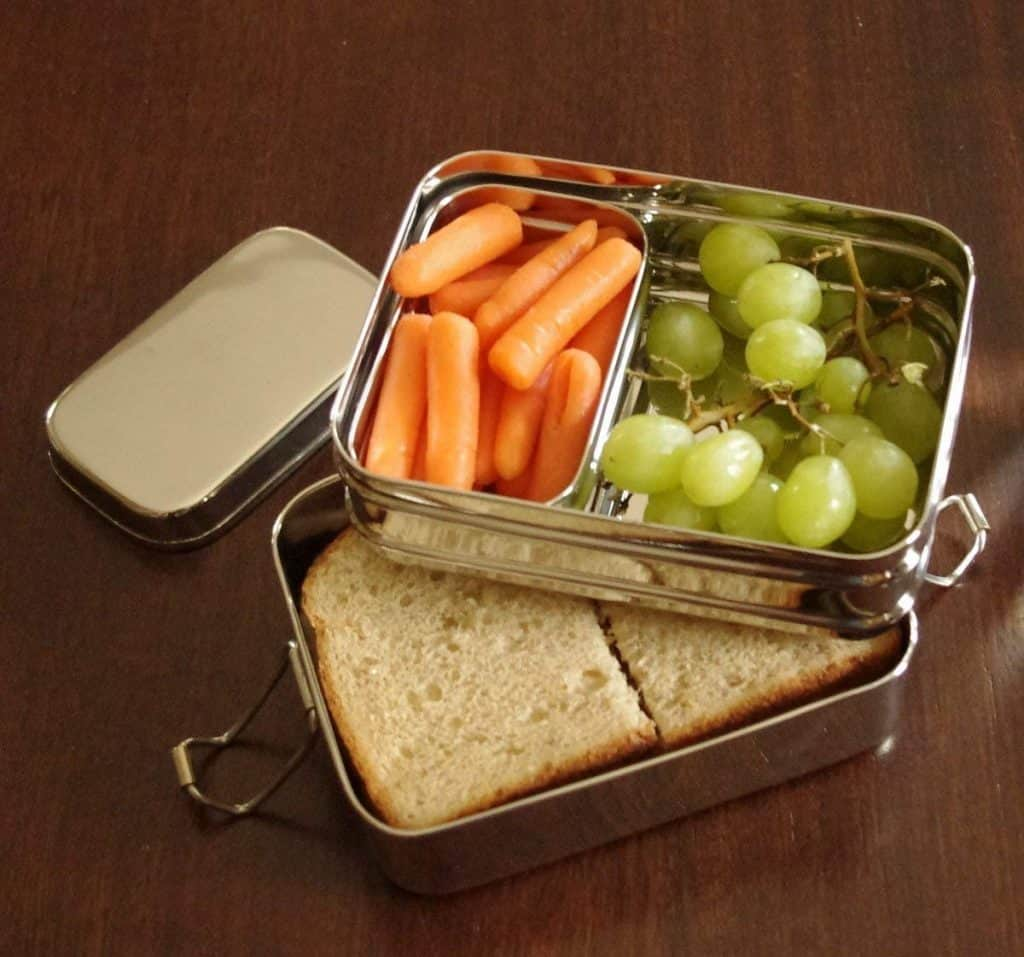 Green Kitchen Zero Waste Ideas Metal bento box for lunch