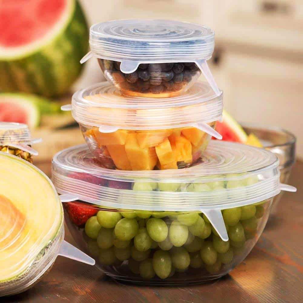 Green Kitchen Zero Waste Ideas Silicone Food storage lids