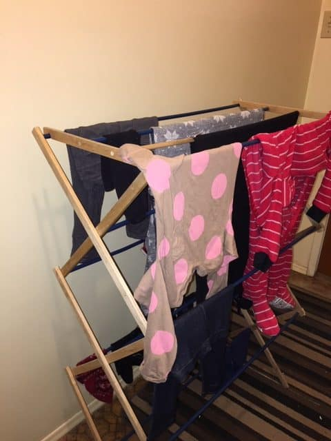 Laundry Drying rack ideas - Accordion-style drying rack wood