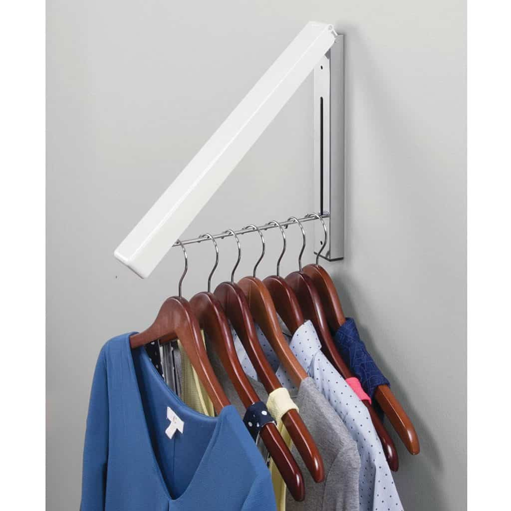 Laundry Drying rack ideas : wall mounted folding drying rack single rod style