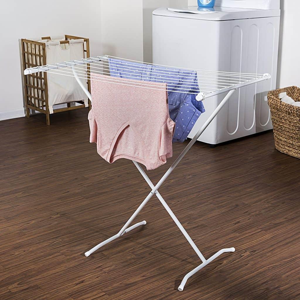 Laundry Drying Rack Ideas - X frame style folding laundry rack
