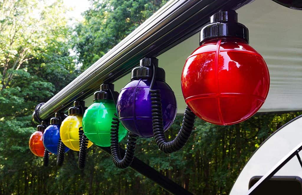 RV Outdoor GLobe lights by Camco. These RV outdoor lights fit into most RV awnings and are made by Camco the leader in RV products.