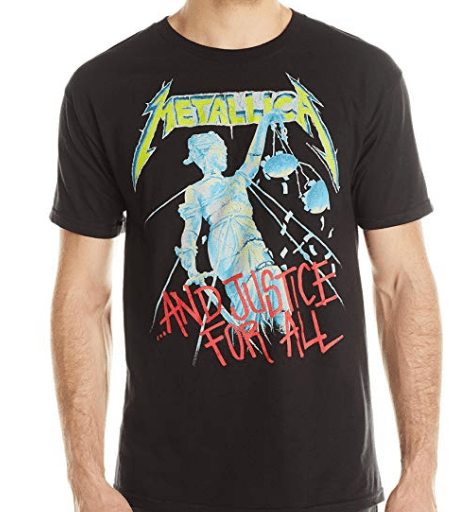 Rock Band T Shirt - metallica and justice for all shirt