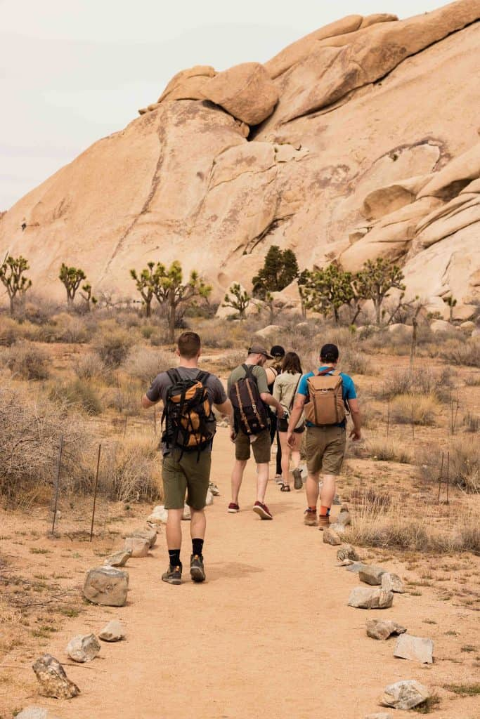 Hiking Group on a Desert Trail