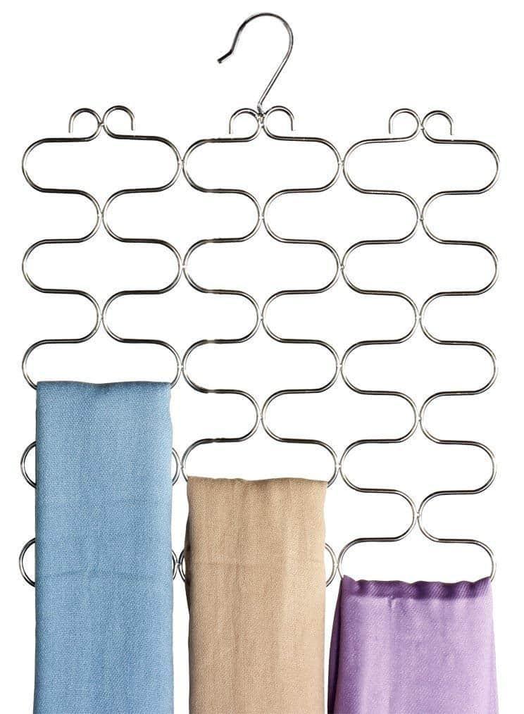 Closet Organization Hanger Scarf or Tie Holder