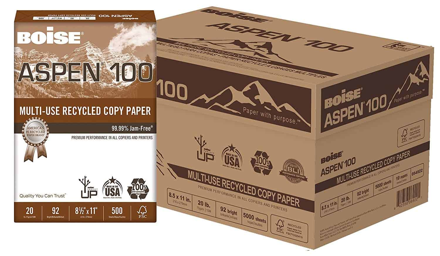 Eco-friendly office supplies - 100% post-consumer recycled paper