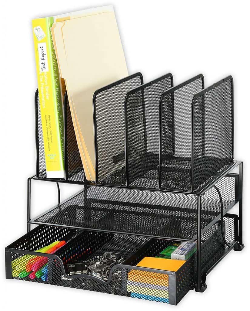Eco-friendly office supplies mesh steel organizer