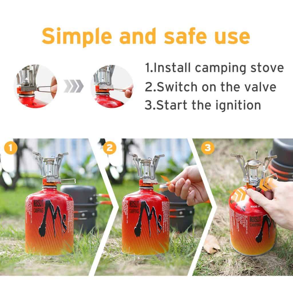Awesome Camping Gear - single burner cookstove