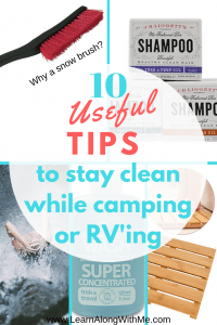 How to stay clean while camping pinterest pin
