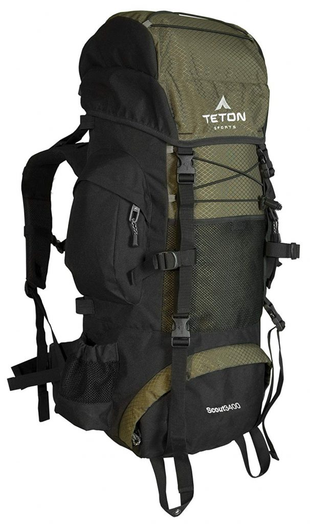 Hiking Gear internal frame backpack
