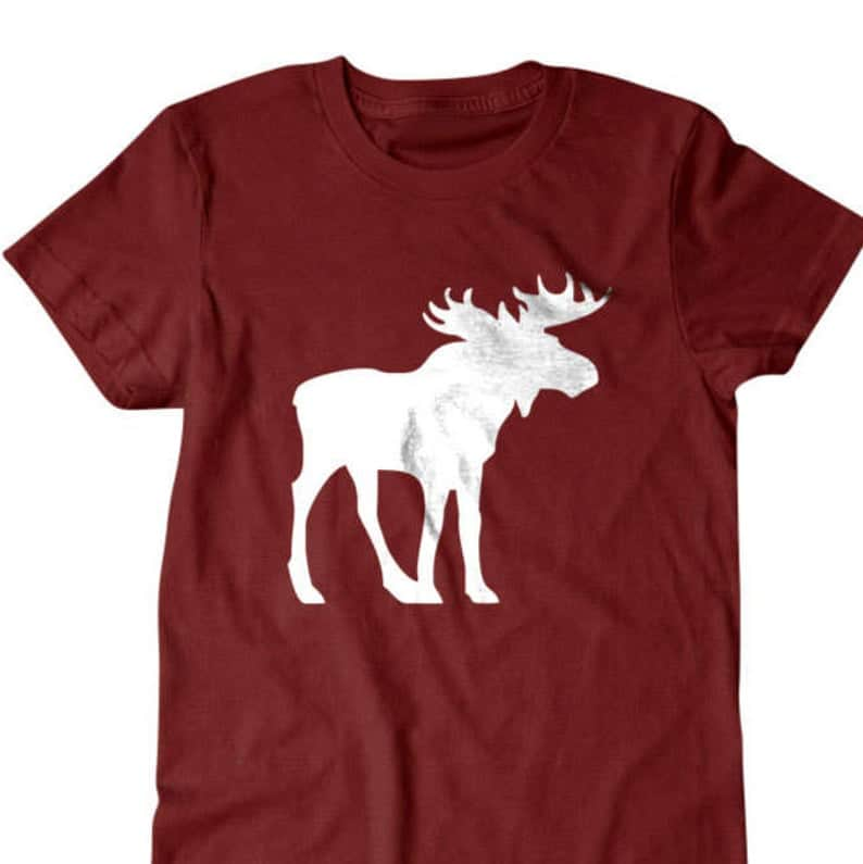 Hiking Gear - cool hiking t-shirt with moose design
