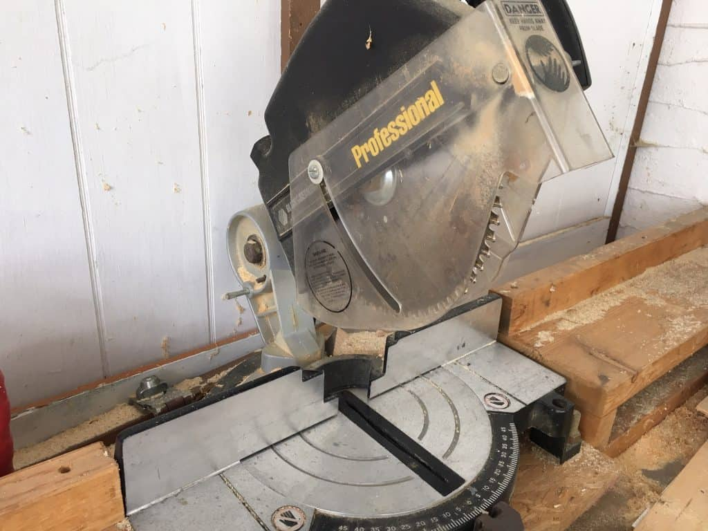 My old Black and Decker chop saw that I used to make my cheap raised garden bed