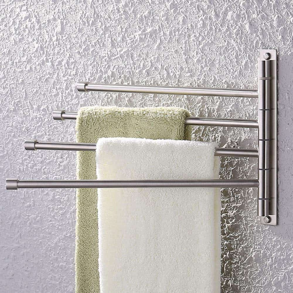 RV bathroom storage idea. Another elegant towel holder that you could use in your RV if you're willing to screw into your walls.