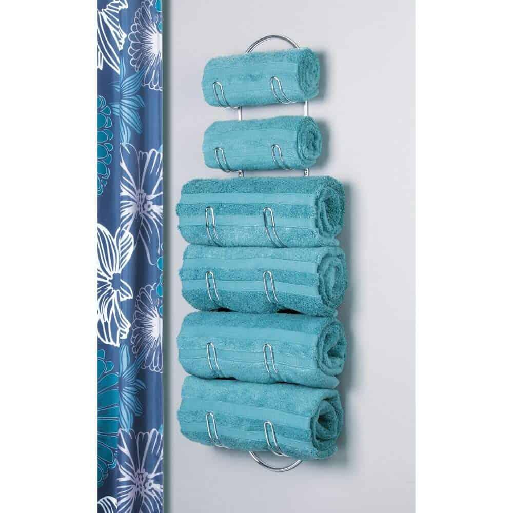 RV bathroom storage ideas - Towel holders are a great rv organization accessory