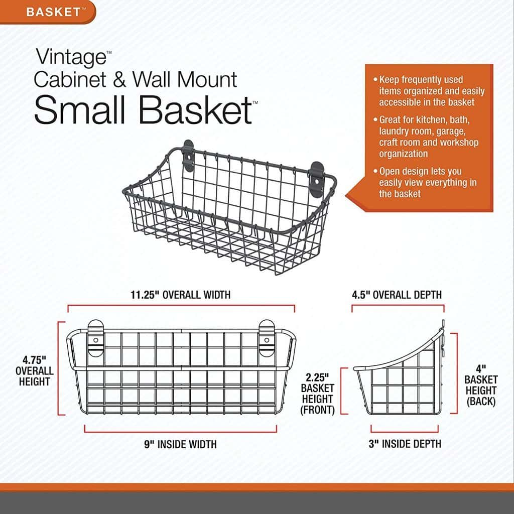 RV Bathroom storage ideas - cabinet basket