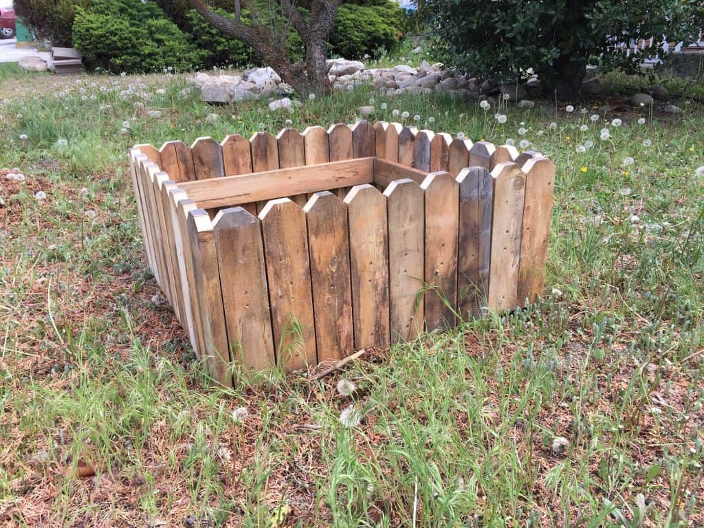 Rustic Cheap Raised Garden Bed DIY Finished Result