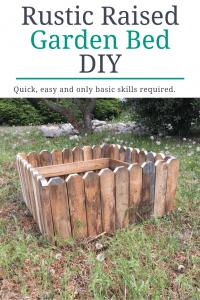 Rustic Raised Garden Bed DIY