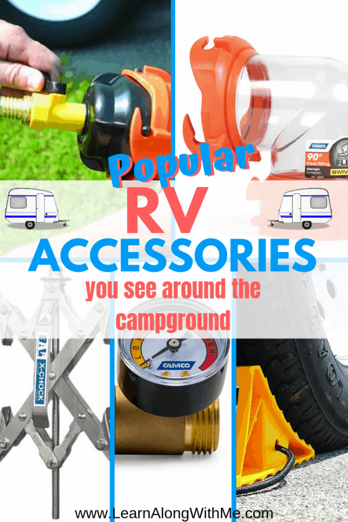 RV Accessories - this article contains several popular RV Accessories including waste water tank hookups, RV tire accessories and more.
