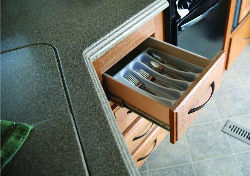 RV kitchen organization ideas