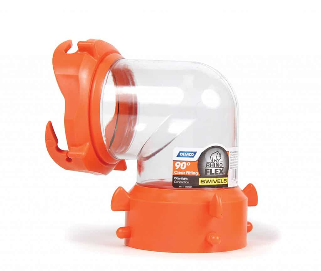 RV accessories sewer hose swivel fitting