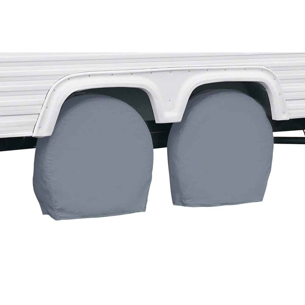 RV Accessories - RV Tire accessories. UV covers to help protect your tires (and particularly the side walls) from UV damage.