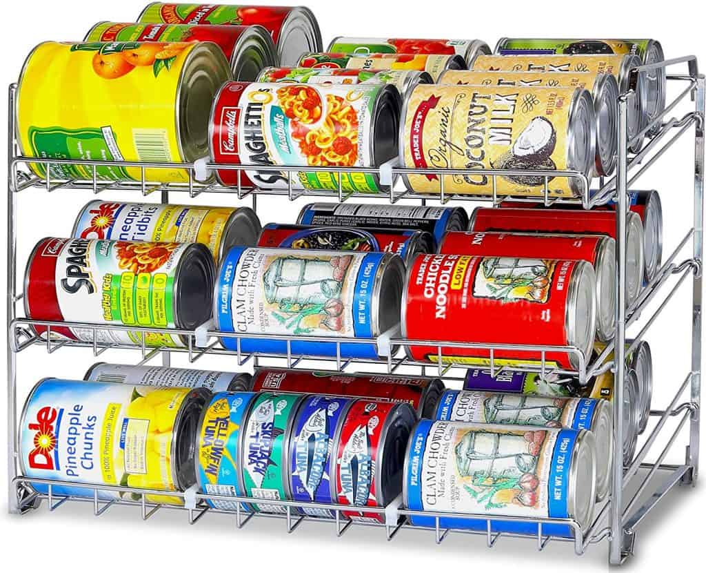 RV Kitchen Organization Idea. Organize your RV pantry with a soup can stacker like this one