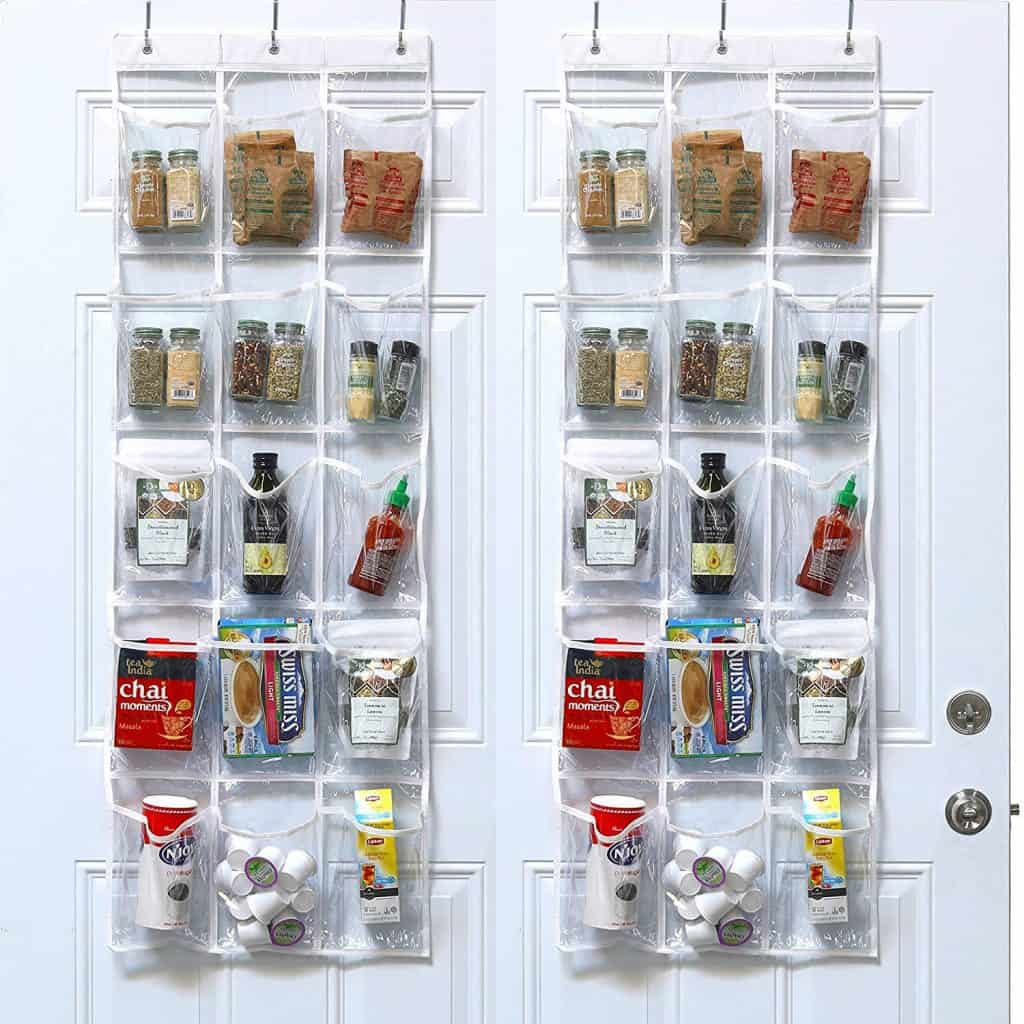How to organize a pantry - pantry door organizer